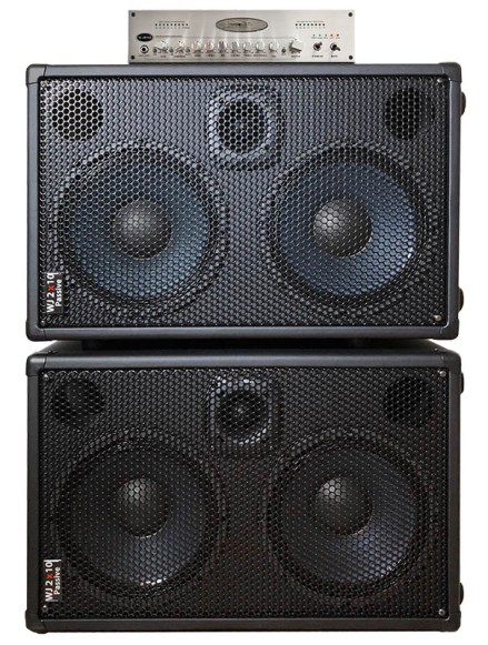 WJBA2 1000 Watt Bass Guitar Amplifier with 6 band eq Bass Pre-Amp, 1000 Watts into 4 or 8 Ohms with Passive 2x10 700 watt cabs