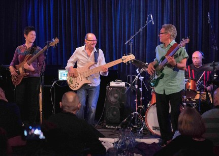 16 strings of bass player's revenge @ Bird's Basement jazz club in Melbourne
