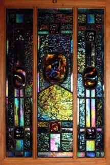 Art Nouveau Iridized Stained Glass ©Cain Art Glass 2016, All Rights Reserved
