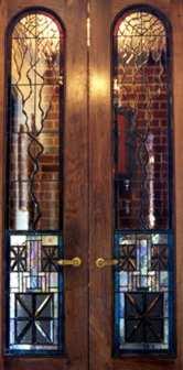Contemporary Art Glass Doors Buckingham, VA ©Cain Art Glass 2016, All Rights Reserved