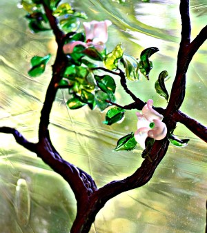 Stained Glass Dogwood Cain Art Glass