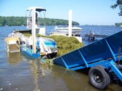 Weed Harvester at Sodus Bay