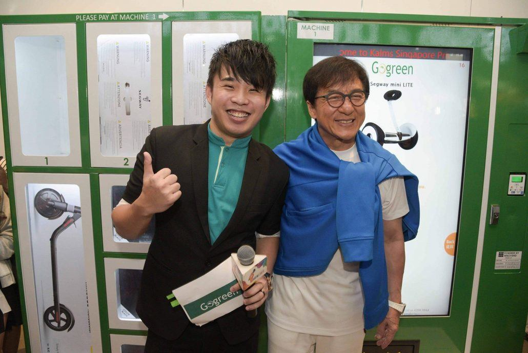 Wayne Emcee With Jackie Chan at GoGreen Singapore Opening Ceremony