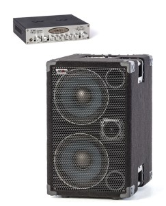 1000 Watt 2x10 Powered Bass Cabinet with Stereo Valve Bass Pre-amp. Now you can have a 1000 Watt compact, portable High End, High Powered, Full Range Bass Cabinet.