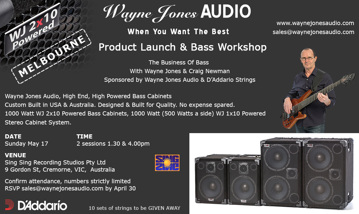 Wayne Jones AUDIO Melbourne Product Launch