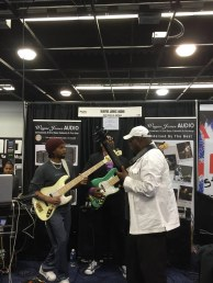 André Berry, Nathaniel Phillips and Sekou Bunch at NAMM 2016.