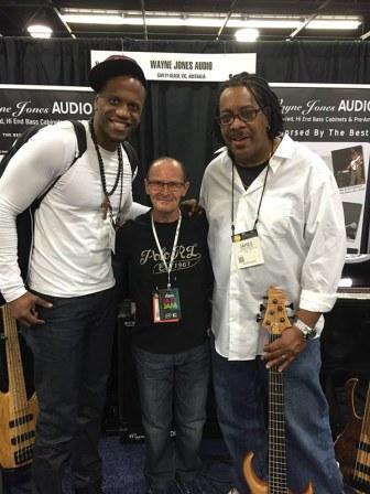 Julian Vaughn, Wayne Jones and James Cleaver - NAMM 2016