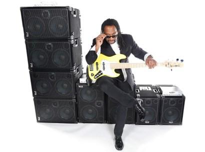 Bass player Nate Phillips @ Wayne Jones AUDIO photo shoot, March 2016