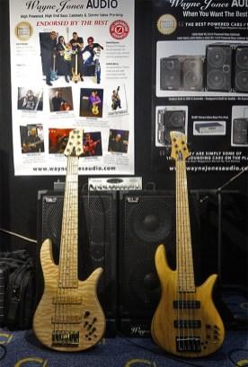 Wayne Jones AUDIO bass rig - Custom Fodera Monarch 6 and Fodera Monach 5 Deluxe bass guitars