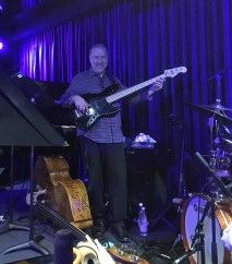 Bassist Carlo De Rosa for Arturo O'farrill with his Afro Cuban Orchestra at Bird's Basement jazz club in Melbourne