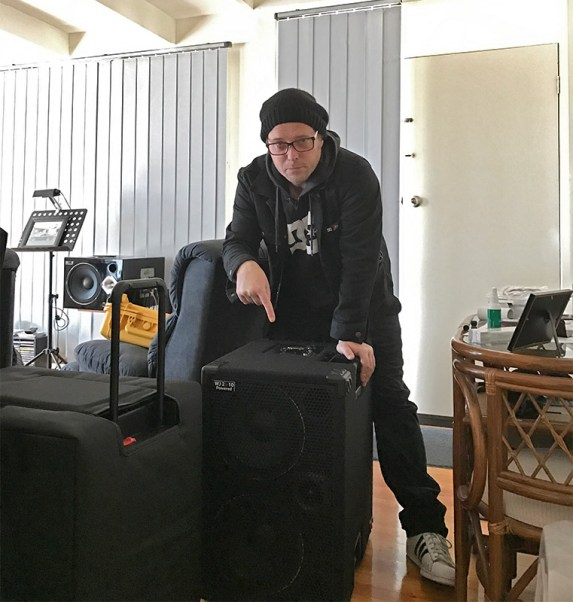 Drew Dedman, bassist for Superheist