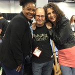 Adrienne C. Moore, Wayne Jones and Marie Gabrielle at NAMM 2016.