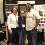 "Garrett Body, Wayne Jones AUDIO endorsee, dropped by for a booth performance, bringing along singer Ashling ""Biscuit"" Cole to perform Garrett Body's new single ""Better Days"""