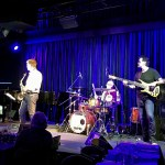 Jimmy Haslip performing with Jeff Lorber's Fusion at Birds Basement jazz club in Melbourne