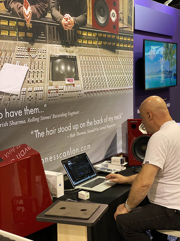 """The hair stood up on the back of my neck"" Jones-Scanlon Studio Monitors NAMM 2020"