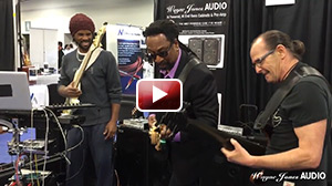 NAMM 2016 André Berry & Nate Phillips & Wayne Jones Jam at Wayne Jones Audio Booth