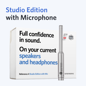 Sonarworks Reference 4 Studio Edition with Mic packaged with Jones-Scanlon Recording Studio Monitors