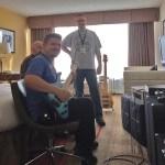 Trying a Wayne Jones AUDIO bass guitar speaker rig @ Nashville Music Expo 2015