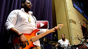 Thad Johnson, bass player with 2018 McDonald's Gospel Celebration Tour