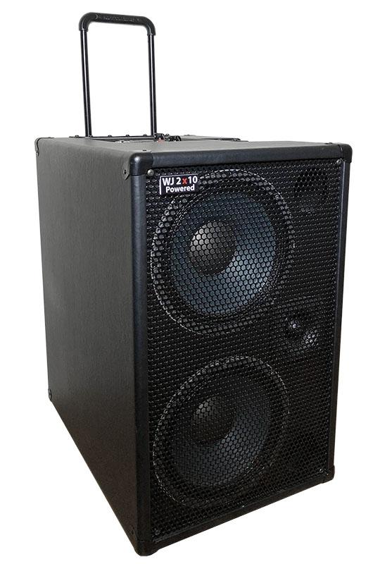 wj 2 10 powered bass cabinet wayne jones audio. Black Bedroom Furniture Sets. Home Design Ideas