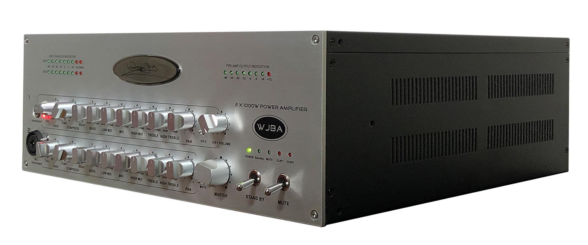 wjba 2000 watt bass guitar amplifier wayne jones audio. Black Bedroom Furniture Sets. Home Design Ideas