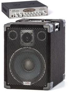 Wayne Jones Audio 500 Watt 1x10 Powered Bass Cabinet with preamp