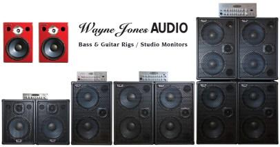 Wayne Jones Audio: High Powered, High End Bass Guitar Cabinets, Stereo Guitar Amp/Speakers, Bass Guitar Amplifiers, Stereo Valve Bass Pre-Amps & Studio Monitors