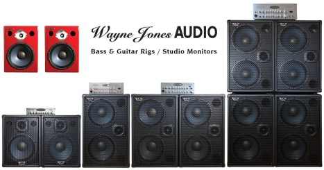 Wayne Jones Audio: High Powered, High End Bass Guitar Cabinets, Stereo Guitar Amp/Speakers, Bass Guitar Amplifiers, Stereo Valve Bass Pre-Amps & Studio Monitors