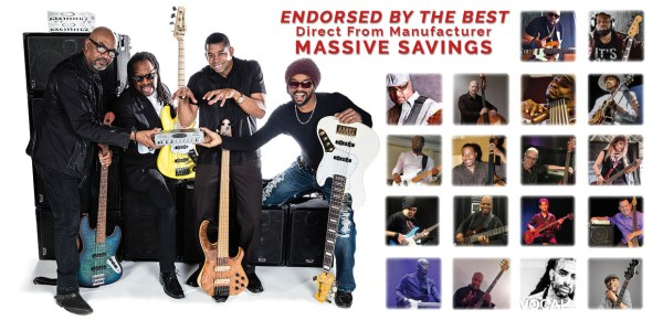 "Wayne Jones Audio endorsers: Kevin Walker, David Dyson, Nick Colionne, Gerey Johnson, Derrick ""Swol"" Ray, Maurice Fitzgerald, Garrett Body, Thaddeus Johnson, Scott Colley, André Bowman, André Berry, Nathaniel Phillips, Mark Peterson, Paul Adamy, Jess Riley, HeaveN Beatbox, Isaiah ""Za"" Williams, Carl Young, Arlington Houston, Graham Maby, Tim George, Drew Dedman"