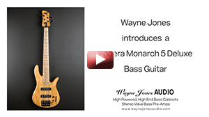 Wayne Jones Audio showcases a Fodera Monarch 5 Deluxe bass guitar