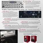 September 2017 Bass Player Magazine advertisement for Wayne Jones AUDIO WJBPII Twin Channel Bass Guitar Pre-Amp. 2 Independent channels that also can be used together. Stereo/Mono Inputs. Phantom power option. 6 band EQ plus 30hZ boost