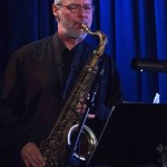 Tenor sax player Lachlan Davidson @ Bird's Basement jazz club in Melbourne
