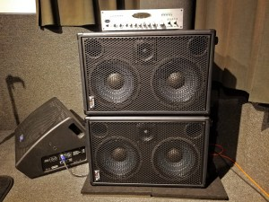 New Wayne Jones AUDIO bass guitar rig for Euphoria Studios NYC Studio 1