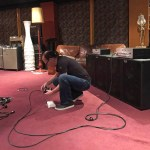 Wayne Jones preparing for product demonstration at Sing Sing Recording Studio, Melbourne, Australia