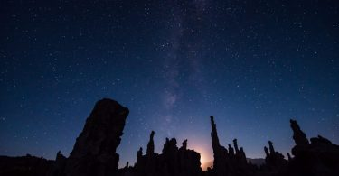 Mono Lake California at Night