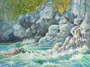 palawan shoreline oil painting