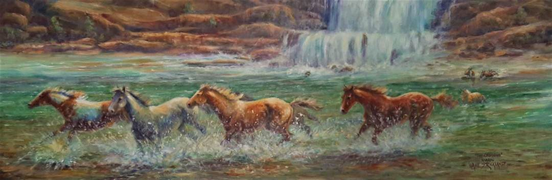 Wayne Strickland painting of horses