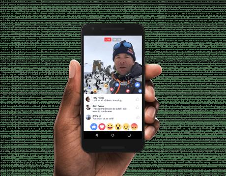 Livestreaming com reações em direto no android