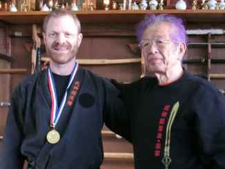 Jake Sharpstone and Grandmaster Masaaki Hatsumi [SWNS]