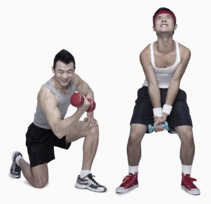 Seasoned fitness enthusiast vs beginner