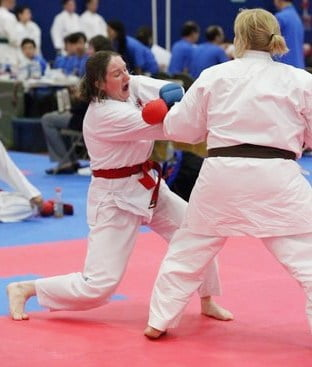 Joelle White Karate Tournament sparring