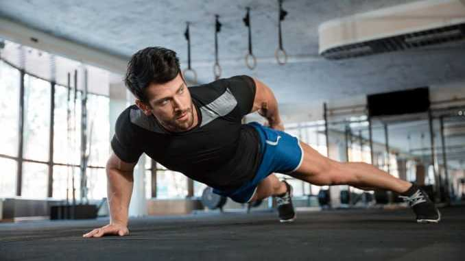 One-arm push up