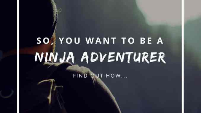 So, you want to be a ninja adventurer?