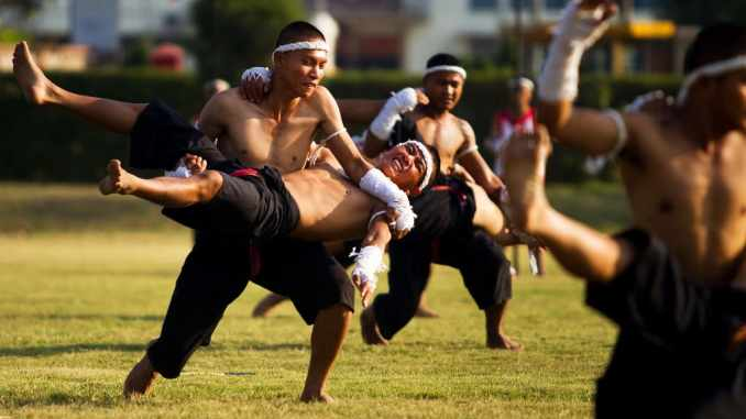 Muay Thai demonstration team