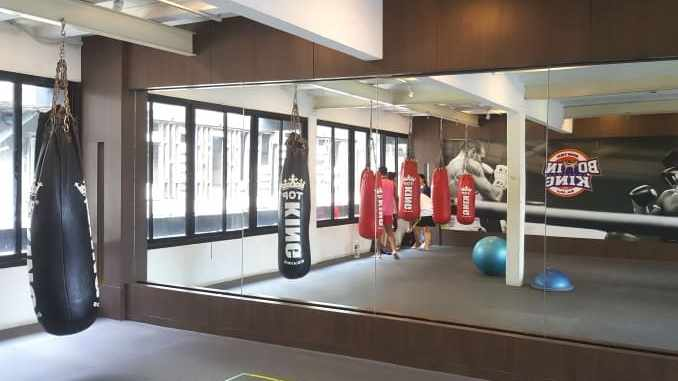 Boxing King Muay Thai - fourth floor training area with mirrors