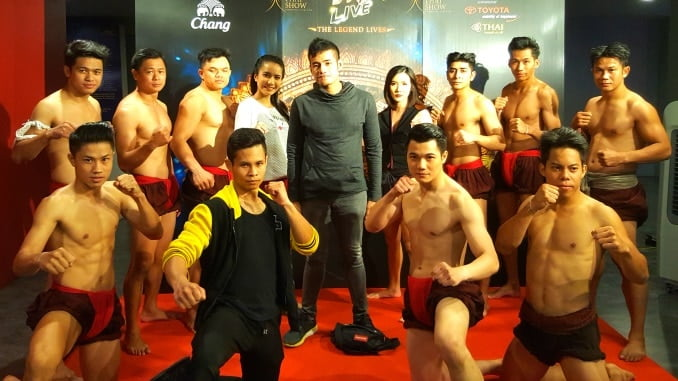 Muay Thai Live cast with Logen Lanka of Way Of Ninja