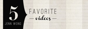 Five Favorite Videos of 2012 by Jenn Wong