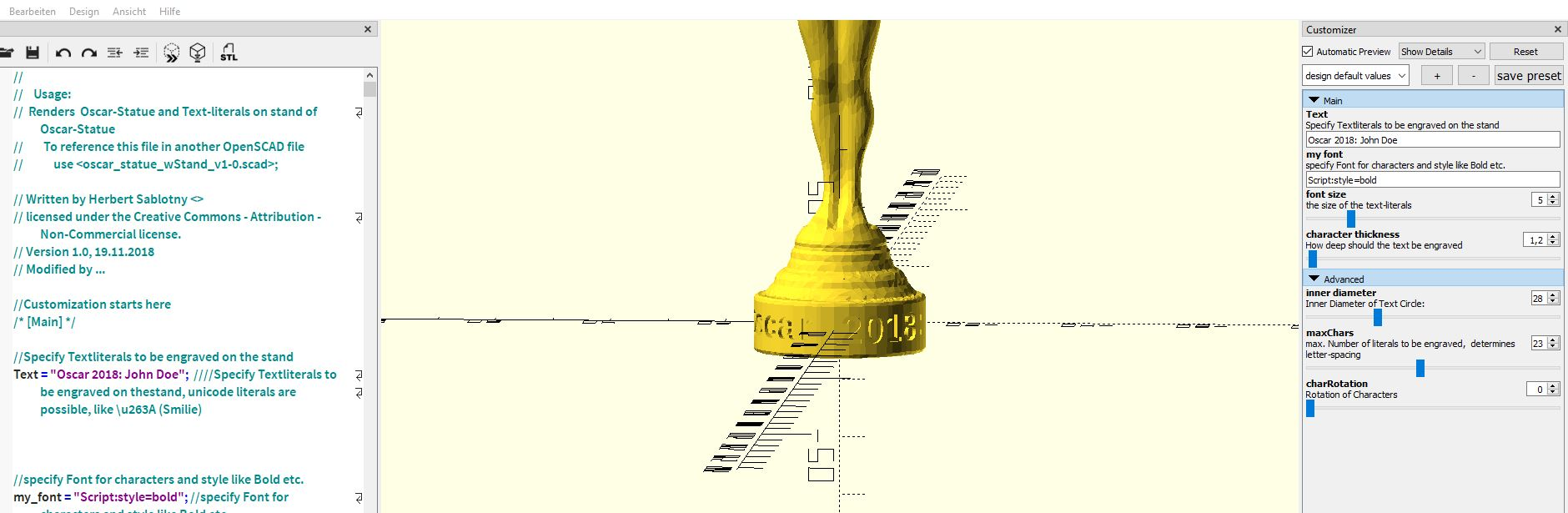 Deutsch) And the Oscar goes to   OPENSCAD !