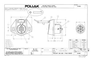 Pollak 12812EP 7Way Connector Socket | Waytek Wire