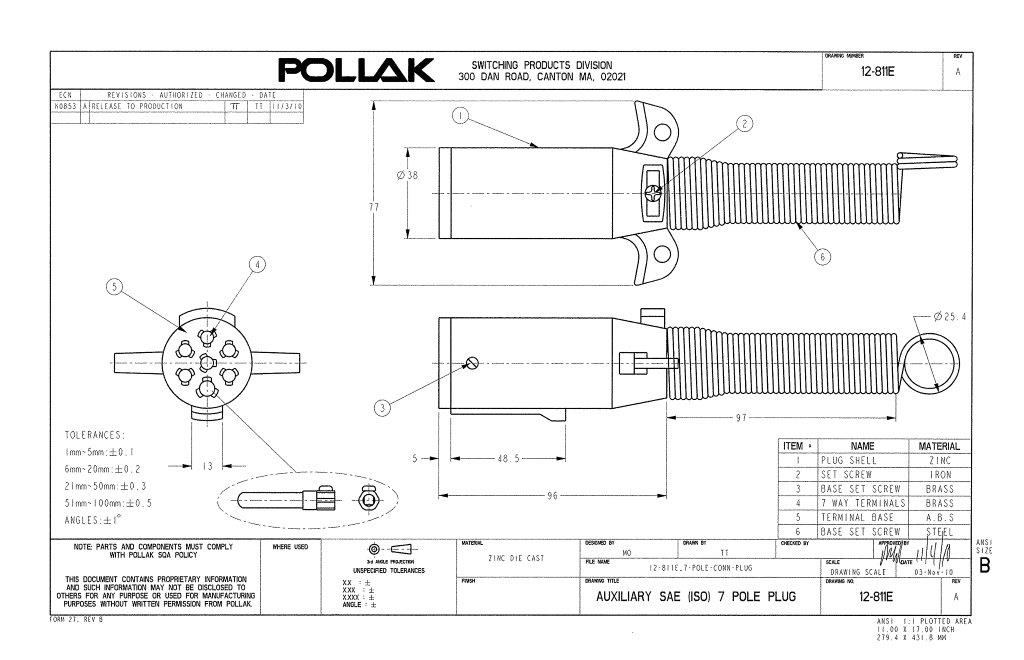 Pollak 12 811ep Iso 7 Way Connector Plug